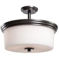 Russell Hill 3 Light 15 inch Oil Rubbed Bronze Flush Mount Ceiling Light