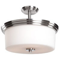 Russell Hill 3 Light 15 inch Polished Nickel Flush Mount Ceiling Light