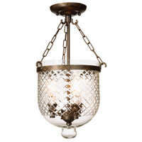 Artcraft Lighting Apothecary 3 Light Semi Flush in Bronze AC4423