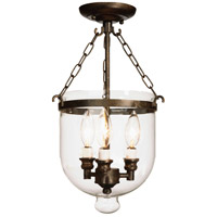 Artcraft Lighting Apothecary 3 Light Semi Flush in Bronze AC4623