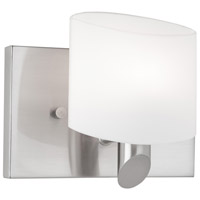 Courtleigh 1 Light 5 inch Brushed Nickel Bathroom Vanity Wall Light