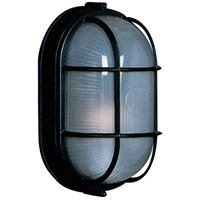 ARTCRAFT Marine 1 Light Outdoor Wall Sconce in Black AC5662BK