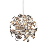 Artcraft AC600 Bel Air 5 Light 18 inch Brushed Nickel Pendant Ceiling Light