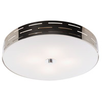 Seattle 3 Light 12 inch Chrome Flush Mount Ceiling Light