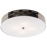 Seattle 4 Light 16 inch Chrome Flush Mount Ceiling Light