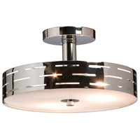 Seattle 3 Light 12 inch Chrome Semi Flush Mount Ceiling Light