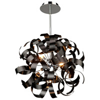 Bel Air 5 Light 18 inch Metallic Black Pendant Ceiling Light