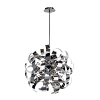 Artcraft AC600CH Bel Air 5 Light 18 inch Chrome Pendant Ceiling Light