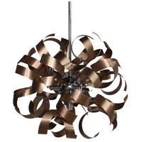 Artcraft Lighting Bel Air 5 Light Pendant in Brushed Copper and Chrome AC600CO
