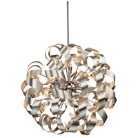 Bel Air 12 Light 24 inch Brushed Nickel Pendant Ceiling Light