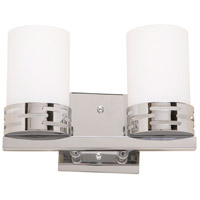 Artcraft AC6012 Seattle 2 Light 11 inch Chrome Wall Bracket Wall Light photo thumbnail