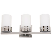 Seattle 3 Light 18 inch Chrome Bathroom Vanity Wall Light