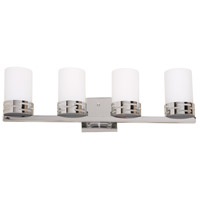 Seattle 4 Light 24 inch Chrome Bathroom Vanity Wall Light
