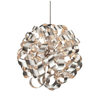 Bel Air 12 Light 34 inch Brushed Nickel Pendant Ceiling Light