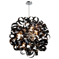 Bel Air 12 Light 34 inch Black Pendant Ceiling Light