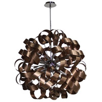 Artcraft Lighting Bel Air 12 Light Pendant in Brushed Copper and Chrome AC602CO