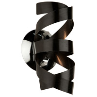Bel Air 1 Light 5 inch Black Wall Bracket Wall Light