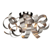 Bel Air 4 Light 19 inch Brushed Nickel Flush Mount Ceiling Light