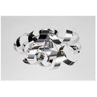 Bel Air 4 Light 19 inch Chrome Flush Mount Ceiling Light