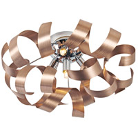 Artcraft AC604CO Bel Air 4 Light 19 inch Copper Flush Mount Ceiling Light in Brushed Copper