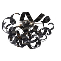 Bel Air 5 Light 24 inch Black Flush Mount Ceiling Light