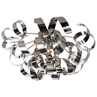 Artcraft Lighting Bel Air 5 Light Flush Mount in Brushed Nickel and Chrome AC605