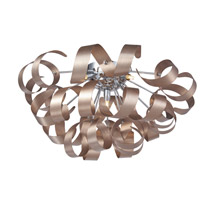 Artcraft Lighting Bel Air 5 Light Flush Mount in Brushed Copper and Chrome AC605CO