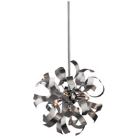Artcraft AC606 Bel Air 3 Light 13 inch Brushed Nickel Pendant Ceiling Light