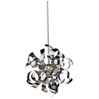Artcraft AC606CH Bel Air 3 Light 13 inch Chrome Pendant Ceiling Light