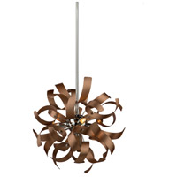 Belair 3 Light 13 inch Brushed Copper Pendant Ceiling Light