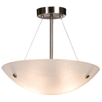 Signature 3 Light 18 inch Chrome Semi Flush Ceiling Light