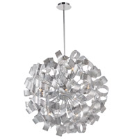 Bel Air 12 Light 34 inch Chrome Mesh Leaves Chandelier Ceiling Light