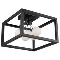 Artcraft AC6600 Massey 5 Light 15 inch Matte Black Flush Mount Ceiling Light