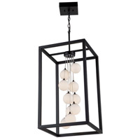Artcraft AC6601 Massey 10 Light 15 inch Matte Black Chandelier Ceiling Light