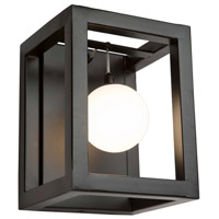 Artcraft AC6602 Massey 1 Light 6 inch Matte Black Wall Sconce Wall Light