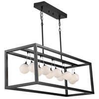 Artcraft AC6603 Massey 11 Light 37 inch Matte Black Island Light Ceiling Light