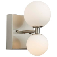 Artcraft AC6612 Hadleigh 2 Light 5 inch Brushed Nickel Wall Sconce Wall Light