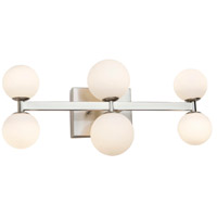Artcraft AC6616 Hadleigh 6 Light 5 inch Brushed Nickel Wall Sconce Wall Light