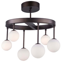 Artcraft AC6622 Melrose 6 Light 19 inch Bronze Semi-Flush Mount Ceiling Light