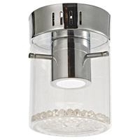 Artcraft Lighting Belmont 1 Light Flush Mount in Chrome AC7011
