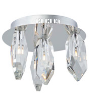 Artcraft AC7044 Doccia LED 12 inch Chrome Flush Mount Ceiling Light