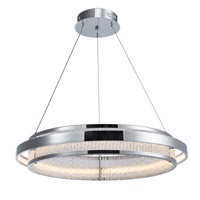 Gemma LED 23 inch Chrome Chandelier Ceiling Light