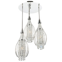ARTCRAFT Omni 3 Light Pendant in Chrome AC706