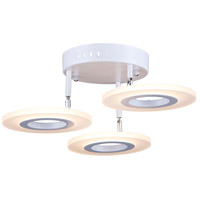 Artcraft AC7068 Phoenix LED 19 inch White Semi-Flush Mount Ceiling Light