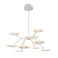 Artcraft AC7070 Phoenix 9 Light 33 inch White Chandelier Ceiling Light