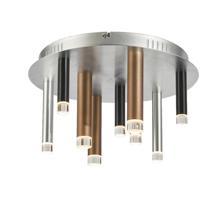 Artcraft AC7089MU Galiano 9 Light 16 inch Black / Copper / Satin Aluminum Flush Mount Ceiling Light