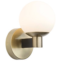 Artcraft AC7091VB Tilbury 1 Light 6 inch Matte Black and Brass Wall Sconce Wall Light