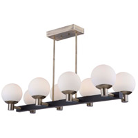 Artcraft AC7098VB Tilbury 8 Light 38 inch Matte Black and Brass Island Light Ceiling Light