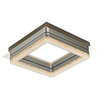 Artcraft Lighting Park Plaza 1 Light Flush Mount in Chrome AC7160
