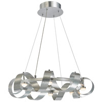 Artcraft AC7210BA Rolling Hills LED 22 inch Brushed Aluminum Chandelier Ceiling Light